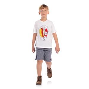 T-Shirt Algodão Sustentável Estampa Divertida Cru