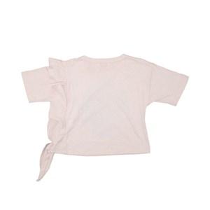 T-Shirt Babado Godê Rosa Claro