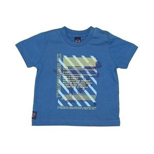 T-Shirt Baby Menino Estampa Frontal Petroleo
