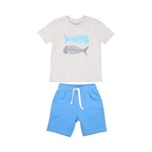 T-Shirt/Bermuda Az Turquesa