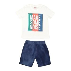 T-Shirt/Bermuda Marinho