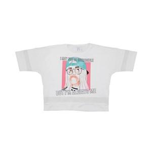 T-Shirt Cropped Recorte Nas Mangas E Nas Barras Verde Agua