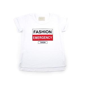 T-Shirt Feminina Infantil Em Cotton Alquimia - Twoin Branco