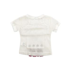 T-Shirt Feminina Infantil / Kids Com Top Em Neoprene Liso Com Tela Lisa - Um Mais Um Pink