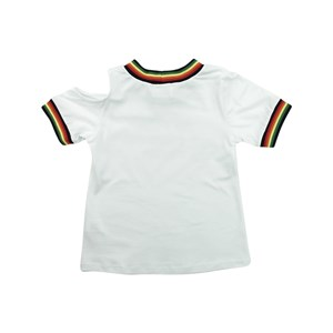 T-Shirt Feminina Infantil / Teen Em Cotton Alquimia Com Entretela Fina - Twoin Branco