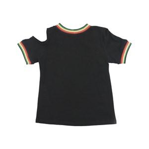 T-Shirt Feminina Infantil / Teen Em Cotton Alquimia Com Entretela Fina - Twoin Preto