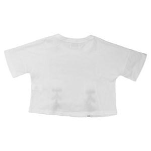 T-Shirt Feminina Infantil / Teen Malha Ligth Com Aplique Termocolante - Twoin Branco