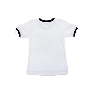 T-Shirt Feminina Infantil / Teen Manga Curta Em Cotton Alquimia Com Estampa De Lantejoulas - Twoin Branco