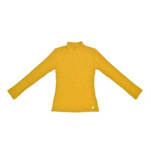 T-Shirt Feminino Infantil / Teen Em Canelado C/Lycra - Two In Amarelo Canario
