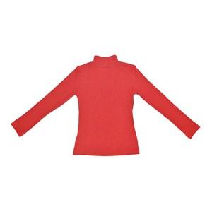T-Shirt Feminino Infantil / Teen Em Canelado C/Lycra - Two In Vermelho