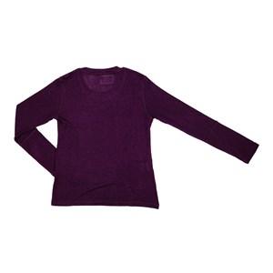 T-Shirt Feminino Infantil / Teen Em Viscolycra C/Estampa Em Aplique De Tecido - Two In Roxo