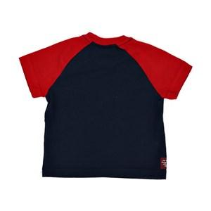 T-Shirt Infantil / Baby Em Meia Malha Penteada Com Estampa Frontal - Um Mais Um Marinho