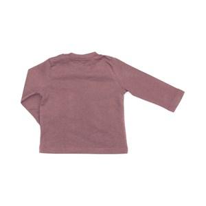 T-Shirt Infantil / Baby Em Meia Malha Penteada Com Patch De Cachorrinho - Um Mais Um Roxo