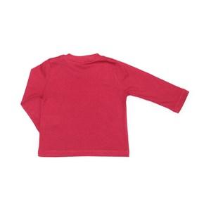 T-Shirt Infantil / Baby Em Meia Malha Penteada Com Patch De Cachorrinho - Um Mais Um Vermelho