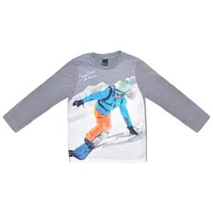 T-Shirt Infantil / Kids Em Malha Com Estampa Frontal Em Cotton Peletizado De Poliester - Um Mais Um Grafite