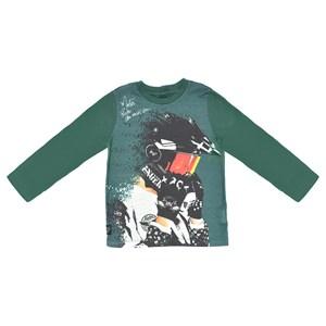 T-shirt Infantil / kids em malha com estampa frontal em cotton peletizado de poliester - um mais um VERDE