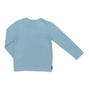 T-Shirt Infantil / Kids Em Malha Com Estampa Frontal - Um Mais Um Azul Claro