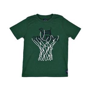T-Shirt Infantil / Kids Em Malha Com  Estampa Frontal - Um Mais Um Verde