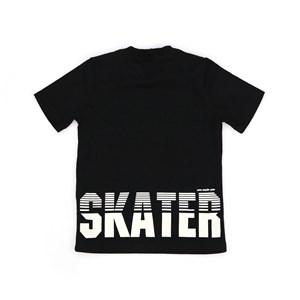 T-Shirt Infantil / Kids Em Meia Malha Penteada Com Estampa Frente E Costas - Um Mais Um Preto