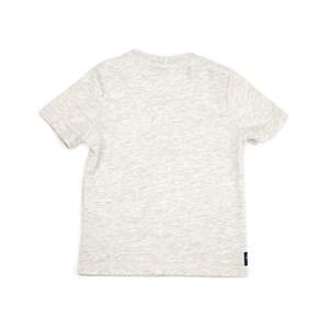 T-Shirt Infantil / Kids Em Meia Malha Penteada Com Estampa Frontal E Bordado - Um Mais Um Mescla Claro