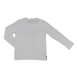 T-Shirt Infantil / Kids Em Meia Malha Penteada Com Estampa Frontal - Um Mais Um Branco