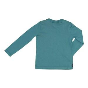 T-Shirt Infantil / Kids Em Meia Malha Penteada Com Estampa Frontal - Um Mais Um Verde