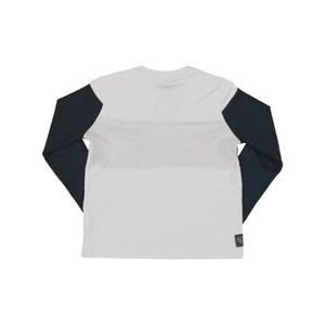 T-Shirt Infantil / Kids Em Meia Malha Penteada Com Recortes E Estampa Frontal - Um Mais Um Marinho