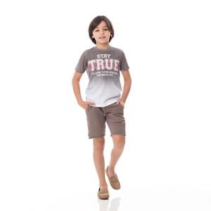 T-Shirt Infantil/Kids Masculino Em Malha - Um Mais Um Preto