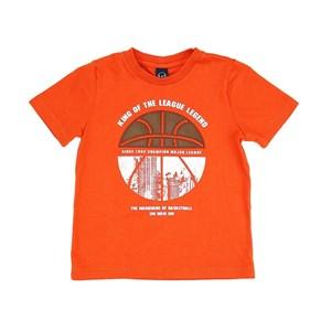 T-Shirt Infantil/Kids Masculino Em Meia Malha Penteada - Um Mais Um Laranja Escuro