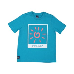 T-Shirt Infantil Masculina Cores Az Turquesa