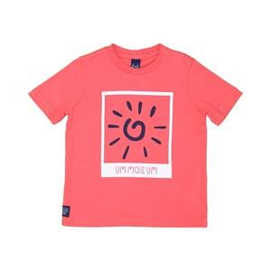 T-Shirt Infantil Masculina Cores Coral