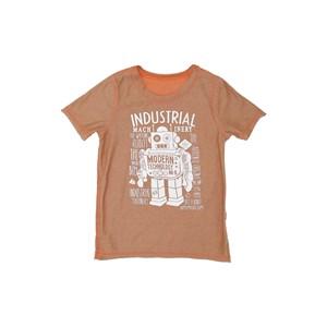 T-Shirt Infantil Masculina Dupla Face Laranja Escuro