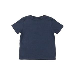 T-shirt infantil masculina manga curta básica meia malha Marinho