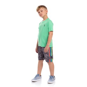 T-Shirt Infantil Sustentável Estampa Verão Verde