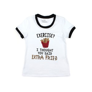T- Shirt Infantil / Teen Em Cotton Alquimia  Com Estampa Frontal Com Bordado De Batata - Two In Branco