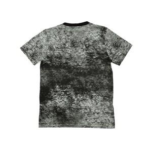 T-Shirt Infantil / Teen Em Malha De Algodao Com Efeito Tie Dye C/Estampa Frontal - Two Preto