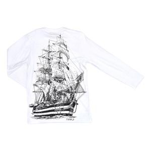 T-Shirt Infantil / Teen Em Malha Penteada C/Estampa - Two Branco