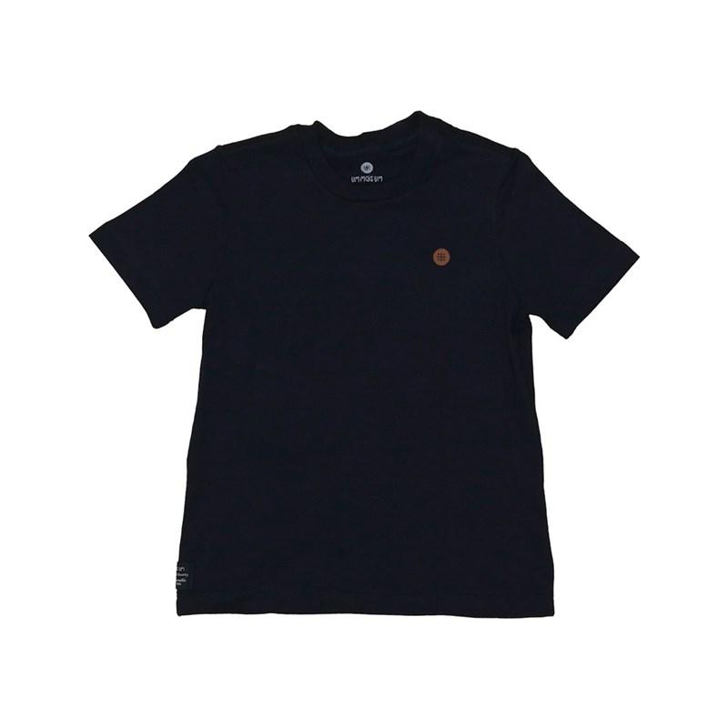 T shirt masculina basica lisa em algodao sustentavel manga curta Marinho