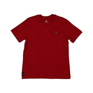 T shirt masculina basica lisa em algodao sustentavel manga curta Vermelho