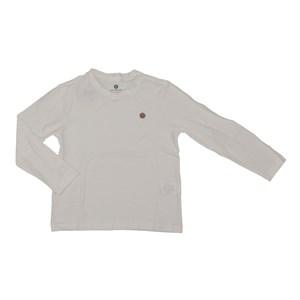 T shirt masculina basica lisa em algodao sustentavel manga longa CRU