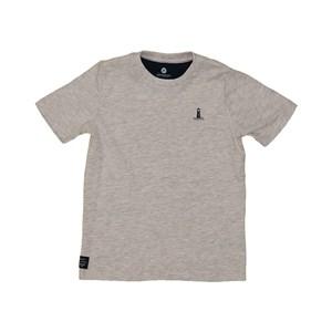 T shirt masculina estampa leme navio e farol manga curta MESCLA CLARO