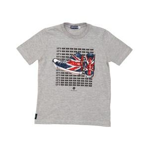 T shirt masculina estampa tênis Reino Unido manga curta MESCLA ESCURO
