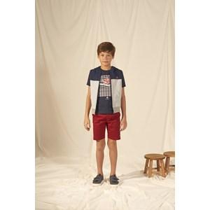 T shirt masculina estampa tênis Reino Unido manga longa Marinho