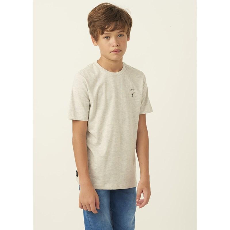 T shirt masculina estampa tropical MESCLA CLARO