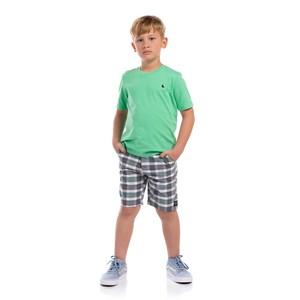 T-Shirt Masculina Infantil Algodão Sustentável Az Turquesa