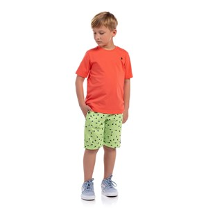 T-Shirt Masculina Infantil Algodão Sustentável Coral