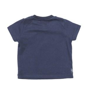 T-Shirt Masculina Infantil / Baby Em Malha Penteada - Um Mais Um Marinho