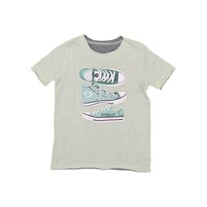 T-Shirt Masculina Infantil Dupla Face Estampada Verde