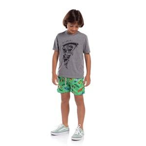T-Shirt Masculina Infantil Estampas Divertidas Grafite