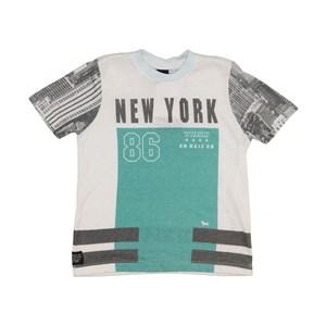 T-Shirt Masculina Infantil / Kids Em Malha - 1+1 Verde